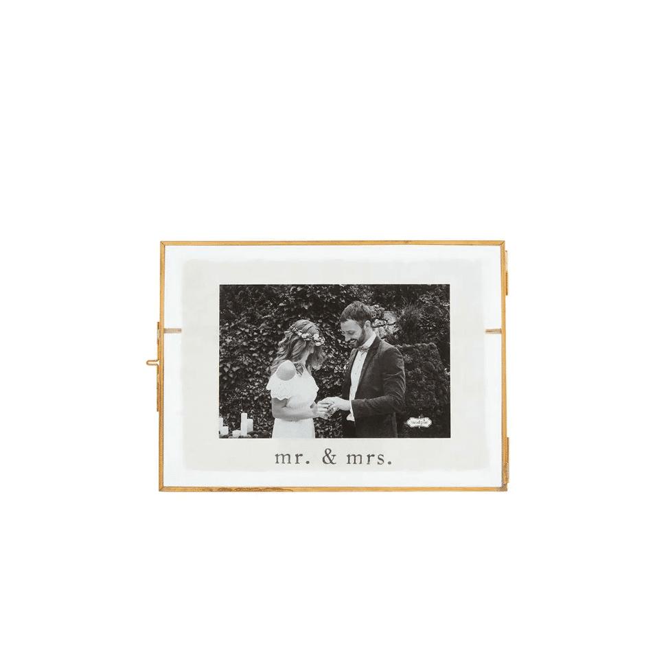 Gold 4x6 Glass Wedding Frame Be Made